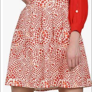 Molly Bracken Heart Print Mini Skirt